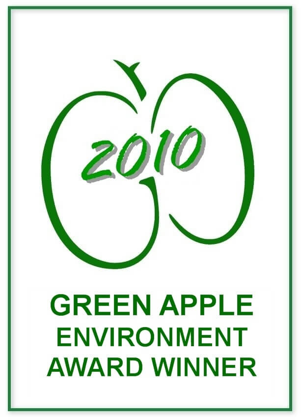 Winner of the GOLD Green Apple Award 2010